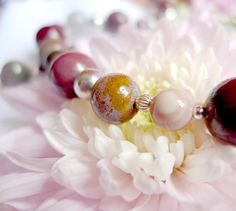 Natural mookaite and bloodstone necklace with 925 by OphieEmporium