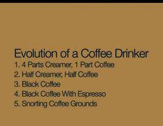 Evolution of a Coffee Drinker