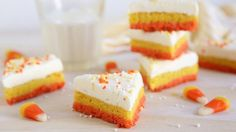 These festive sugar cookie bars are sure to impress. You won't believe how quickly they come together!