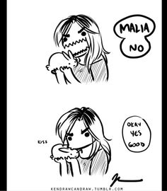 http://kendrawcandraw.tumblr.com/post/91598408511/canid-girlfriends-and-bun-pals malia funny #teenwolf #malia cr to owner