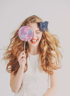 Portrait with lollipop Photographer Max Wanger for Ban.do Summer 2013 look book! | Art And Chic