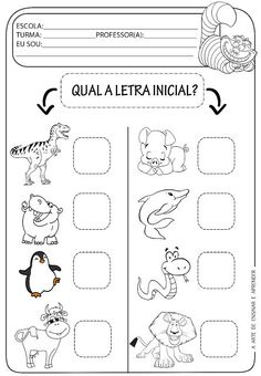 A Arte de Ensinar e Aprender: Atividade pronta - Letra inicial Mais