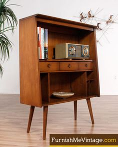 Mini Mid Century Modern Bookcase I need this please                                                                                                                                                                                 More