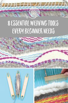 8 Essential weaving tools every beginner should have to hand Weaving Tools, Loom Weaving, Tapestry Weaving, Craft Kits, Craft Projects, Craft Ideas, Modern Crafts, Confused, Confidence