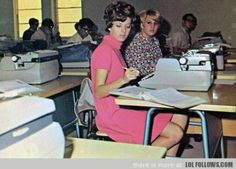 Typing class in the 60's