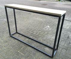 Sidetable steigerhout en staal 150x100x30cm