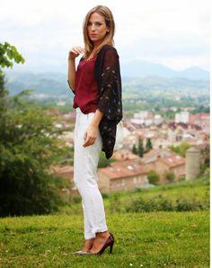 Kimono burdeos | Looks and shoes
