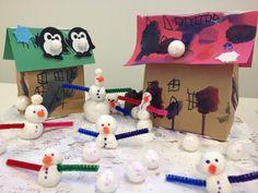 Fairy Dust Teaching Kindergarten Blog: Seasons Snow village