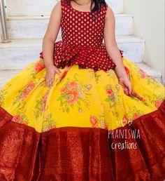 Girls Frock Design, Baby Dress Design, Kids Dress Wear, Kids Gown, Baby Frocks Designs, Kids Frocks Design, Frocks For Girls, Little Girl Dresses, Kids Blouse Designs