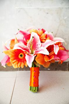 This would be a beautiful tropical bouquet for your beach wedding in Turks & Caicos at The Sands at Grace Bay