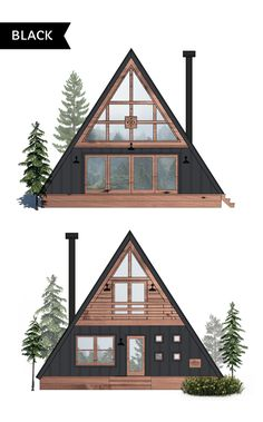 Ayfraym - A-Frame House or Cabin Plans & Kits A Frame Cabin Plans, Cabin House Plans, Cabin Kits, Tiny Cabin Plans, Cabin Design, Tiny House Design, Cabins In The Woods, House In The Woods, A House