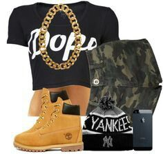dope outfit with timberlands