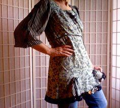 56 Feminine Mini Dress Lolita Jeans Top Women's Teen by ArtzWear