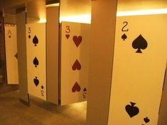 casino Night bathroom doors