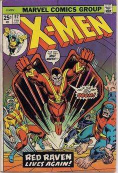"""MARVEL XMEN #92 Mutant Comics created by Jack King Kirby & Stan Lee 1975 Bronze Age """"Reprint Issues"""""""