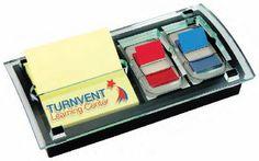 Post-it® Pop-Up Note and Flag Dispenser - 1 Colour Imprint  No de produit: DS100-1CI - http://www.creatchmanpromo.ca/
