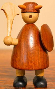 Jacob Jensen Mid Century Danish Modern Teak Wood Viking by ceclay