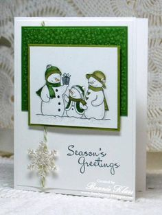 Snow Family by bon2stamp - Cards and Paper Crafts at Splitcoaststampers