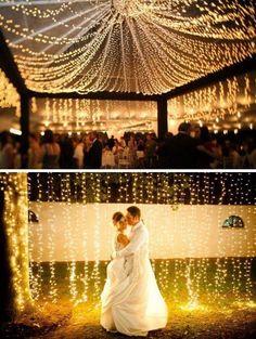 Beautiful fairy light wedding idea