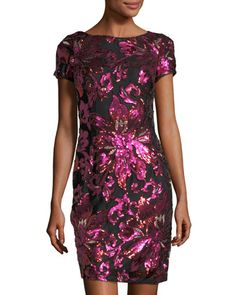 Floral-Embellished+Shine+Dress+by+Neiman+Marcus+at+Neiman+Marcus+Last+Call.