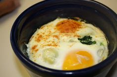 Baked Eggs with Spinach | Medifast Recipes