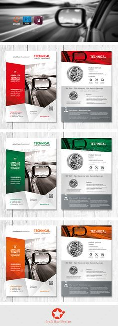 Technical Data Product Flyer Templates  #automotive #data sheet #datasheet • Available here → http://graphicriver.net/item/technical-data-product-flyer-templates/11220281?s_rank=1522&ref=pxcr