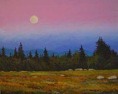 Moonrise Over Blue Hills  by  William McLane, Jr.