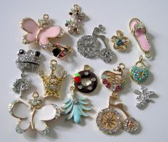 Mixed Lot of Rhinestone Charms Pendants by 2MoonswithCharm on Etsy