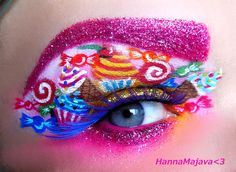 The best make-up - lovers of makeup Face Paint Makeup, Eye Makeup Art, Eye Art, Beautiful Eye Makeup, Beautiful Eyes, Costume Bonbon, Gouts Et Couleurs, Creative Eye Makeup, Unique Makeup
