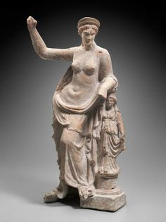 Statuette of Aphrodite leaning on a small statue Greek, East Greek, Hellenistic Period, B. Hellenistic Art, Hellenistic Period, Ancient Art, Ancient History, Art History, Terracota, Classical Antiquity, Classical Art, Greek And Roman Mythology
