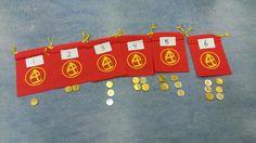 Hoeveel munten moeten er in de zak?