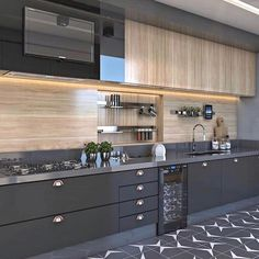 34 What You Need to Do About Best Modern Kitchen Cabinets Ideas - homesuka Home Room Design, Kitchen Decor, Contemporary Kitchen Design, Contemporary Kitchen, Kitchen Modular, Kitchen Interior Design Decor, Modern Kitchen Cabinet Design, Kitchen Furniture Design, Kitchen Design