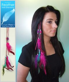 Feather Hair Extensions H11061914 Hairspray, Beauty Shop, Cut And Color, Feather Hair, Hair Extensions, Eyelashes, Headbands, Hair Beauty, Make Up
