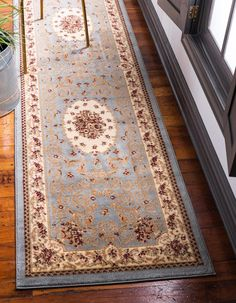 RugPal Traditional Royale Runner Rug Seamist Colour Rug Size: Runner x Navy Blue Area Rug, Beige Area Rugs, Clearance Rugs, Outdoor Area Rugs, Online Home Decor Stores, Traditional Design, Colorful Rugs, Rug Runner, Rug Size