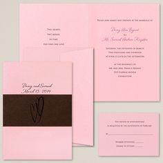 Heart's Delight Wedding Invitation | #exclusivelyweddings | #brownwedding