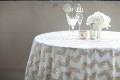 my latest obsession: sequin linens for parties #thepartydressblog
