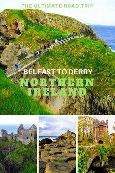 Join us on the ultimate road trip from Belfast to Derry, Northern Ireland where you will drive rugged coastline, step on the stones of giants, explore castles of old, cross hanging bridges, sleep like royalty and partake in traditional food, music and drink. This is Northern Ireland via @livedreamdiscov
