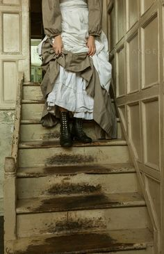 I just like the idea of stairs being so worn down because of frequent use, like suitors rushing up to confess their love.