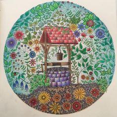 With A Page From Johanna Basfords Secret Garden Sept 2016 Johannabasford Secretgarden Adultcoloring