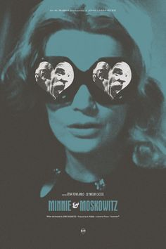 Adam Juresko's poster for John Cassavetes's Minnie and Moskowitz (1971).