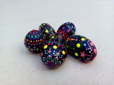 "Small  hand painted stones  ""Fabergé Eggs"" collection"