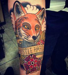 Fox tattoo on arm - 50+ Examples of Fox Tattoo  <3 !