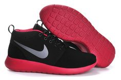 20158 nikes roshe run high top black red men running shoes size 40--44