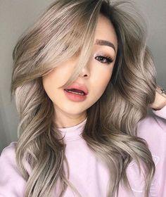 New Hair Color Trends for 2018 2019 - Fashionre Asian Hair Balayage Ash, Asian Ombre Hair, Asian Hair Highlights, Blonde Asian Hair, Hair Color Asian, Ash Blonde Balayage, Ombre Hair Color, Hair Color Balayage, Brown Hair Colors