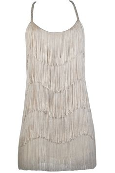 Lily Boutique Great Gatsby Gorgeous Beige Fringe Party Dress, $54 Beige Fringe Dress, Great Gatsby Dress, Roaring 20s Dress, Fringe Party Dress www.lilyboutique.com