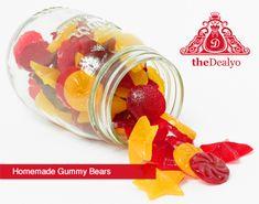 Homemade Gummi BearsRecipe  - theDealyo.com