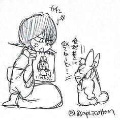 Bleach// Ichigo, Orihime bunny and Rukia