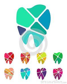 Elemento del logotipo de los dientes del diseño
