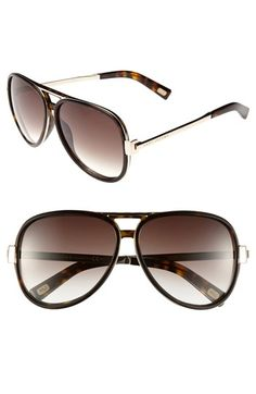MARC JACOBS Aviator Sunglasses Dark Havana One Size
