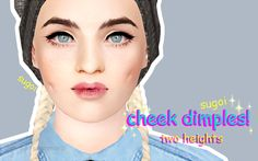 My Sims 3 Blog: Cheek Dimples - Two Heights by Aphroditeisimmoral